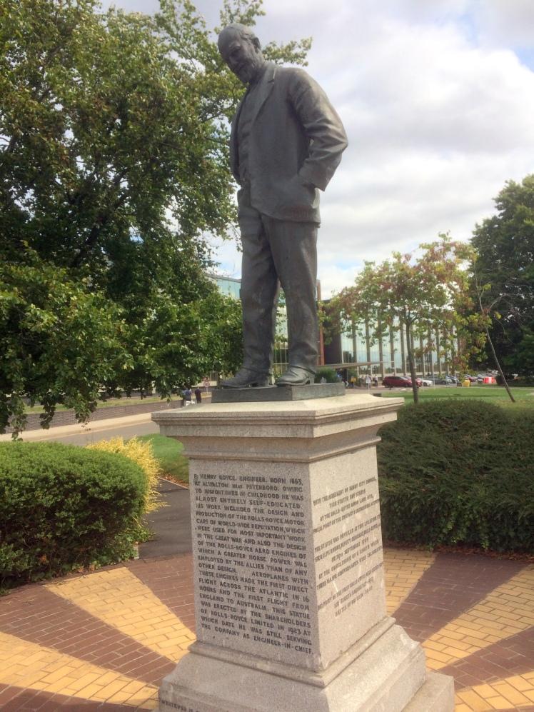 rolls statue